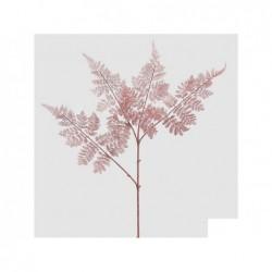 ENZO DE GASPERI Felce glitter con ramo rosa h80cm