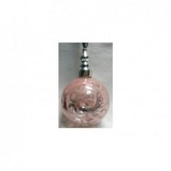 XONE Palla in vetro rosa e argento