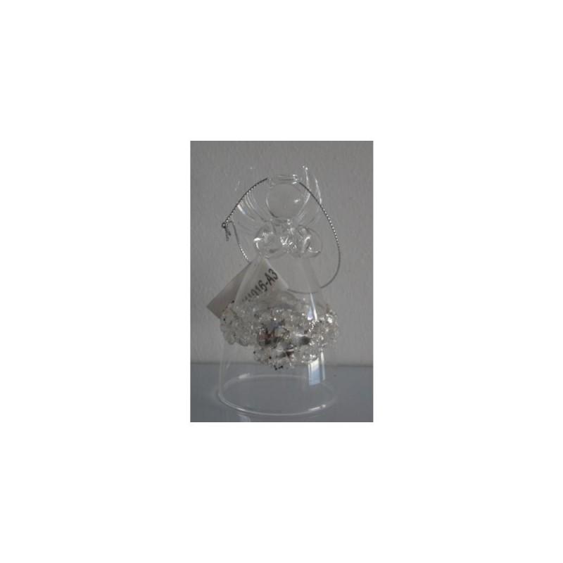 XONE Angelo in vetro con decorazioni