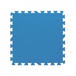 BESTWAY Tappetino base poliestere morbido 50x50cm - blu