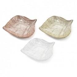 MERCURY Ciotola foglia-drops in vetro