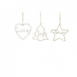 MERCURY Pendente natalizio in metallo dorato