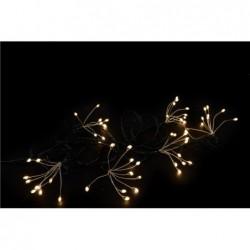 MERCURY Filo ciuffi 100 luci macroled bianco caldo con flash