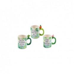 MERCURY Mug jungle in ceramica e decalcomanie h12cm