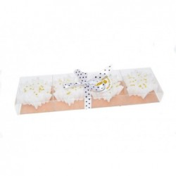 MERCURY Set 4 candele fiocchi di neve con glitter