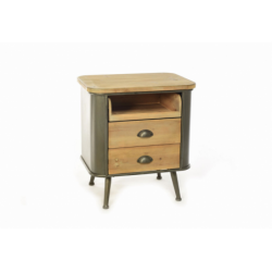 MERCURY Mobiletto in legno e metallo con 2 cassetti e 1 comparto 54,5x3