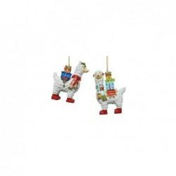 KAEMINGK Lama con doni natalizi 9cm