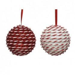 KAEMINGK Pallina rosso/bianco 10cm