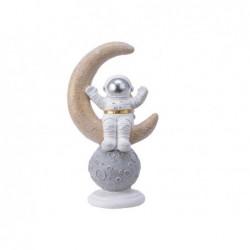 KAEMINGK Astronauta sulla luna bianco/oro