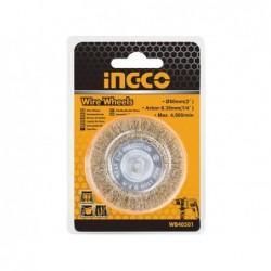 INGCO Spazzola circolare con filo ondulato e gambo diam. 75 mm