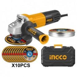INGCO Smerigliatrice angolare 115 mm 950w + 10dischi