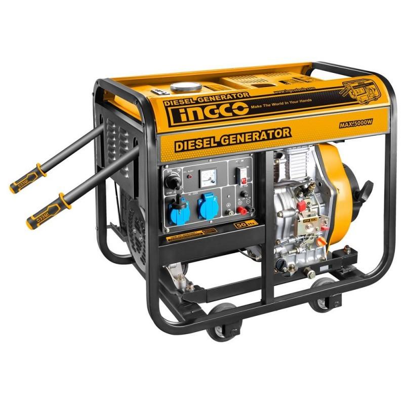INGCO Generatore corrente diesel 5KW trifase 9HP