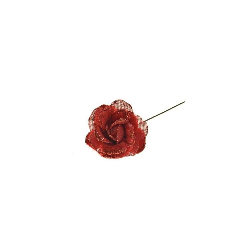 PARTENOPE Rosa gambo corto cm 16 rosso