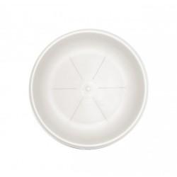 BAMA Sottovaso rotondo in plastica bianco