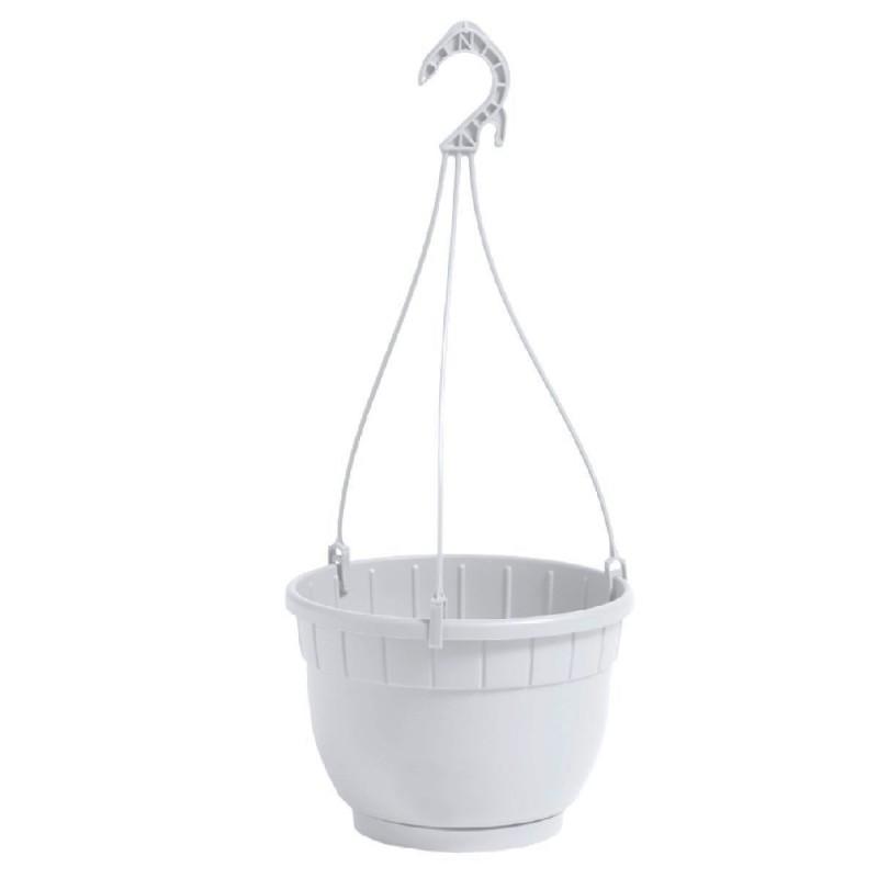 NICOLI Vaso Basket Siena bianco 20cm