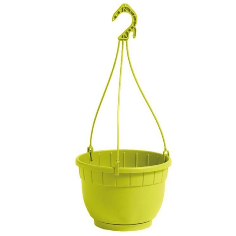 NICOLI Vaso Basket Siena pistacchio 20cm
