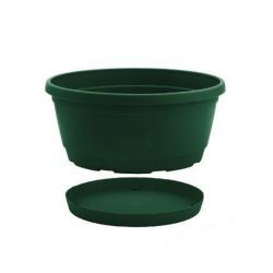 NICOLI Vaso ciotola Rumba verde 20cm
