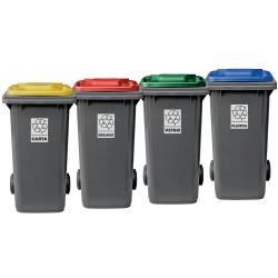 MOBIL PLASTIC Etichette per bidoni raccolta differenziata
