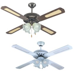 EFFE Ventilatore da soffitto con luce 4 pale
