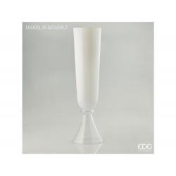 ENZO DE GASPERI Vaso coppalux in vetro h75xd18,5cm nida bianco
