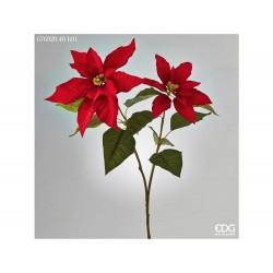 ENZO DE GASPERI Stella natale rex ramo x2 h.91cm rosso