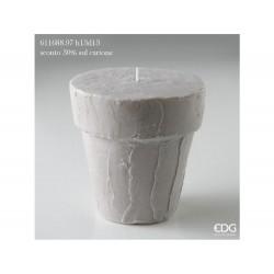 ENZO DE GASPERI Candela stucchi vaso h13xd13cm grigio