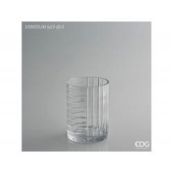 ENZO DE GASPERI Vaso cilindro righe-mix h19xø14cm