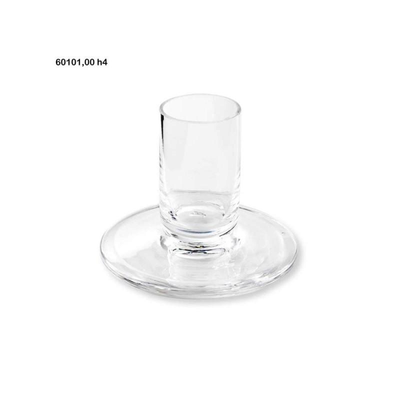 ENZO DE GASPERI Portacandela xian vetro h.4cm naturale