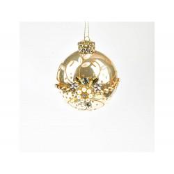 ENZO DE GASPERI Palla vetro con perle oro