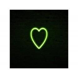 ENZO DE GASPERI Neonled cuore a 2 facce verde h30cm