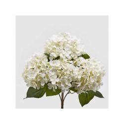ENZO DE GASPERI Ortensia bianca artificiale h45cm