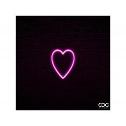 ENZO DE GASPERI Neonled cuore a 2 facce rosa h30cm
