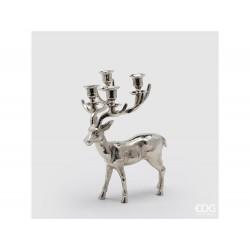 ENZO DE GASPERI Portacandela cervo x4 h37x30x18