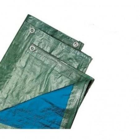 MANIFATTURA QUATTRO Telo verde e blu leggero 90gr/mq