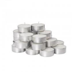 MERCURY Set 100 tealight bianchi non profumati