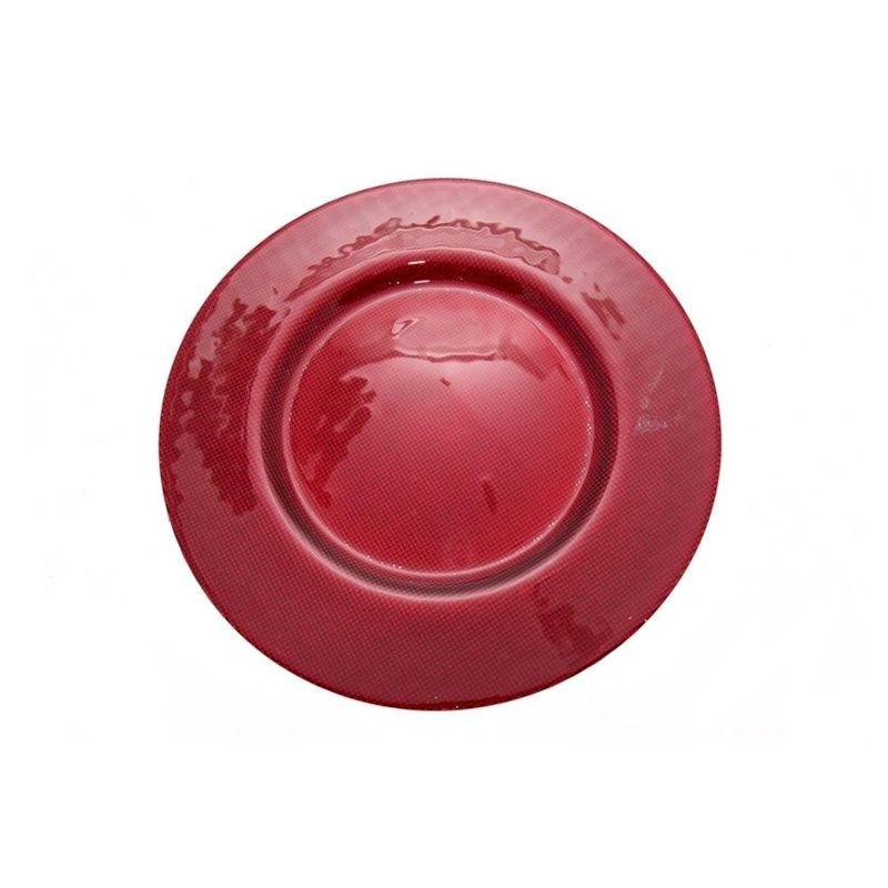 MERCURY Sottopiatto in vetro fatum d cm 33,5 colore rosso