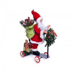 MERCURY Babbo Natale su scooter in movimento con Musica e Luci