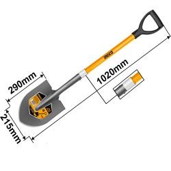 INGCO Pala a punta con manico in fibra di vetro 100cm