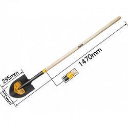 INGCO Pala a punta con manico in legno 145cm