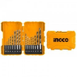 INGCO Set 16 punte trapano muratura/legno