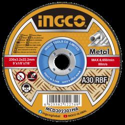 INGCO Disco taglio per metallo 230x3mm 25pz